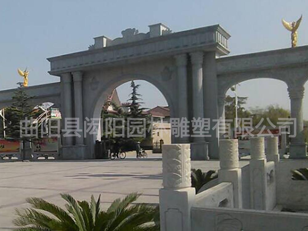 大門圓柱子裝飾效果圖